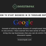 how to start your own business in 10 thousand rupees