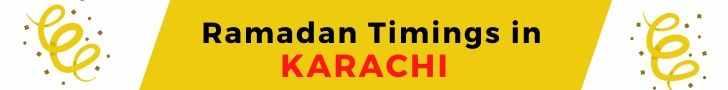 Ramadan Timings in KARACHI